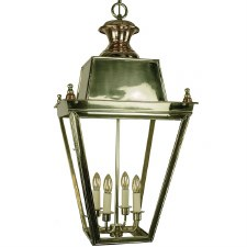 Balmoral Lantern Extra Large Polished Brass Unlacquered