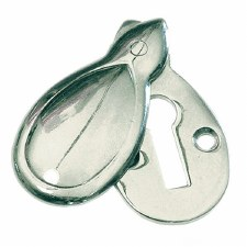 Bank Covered Escutcheon Satin Chrome