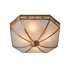Interiors 1900 Bannermann Flush Ceiling Light Antique Brass