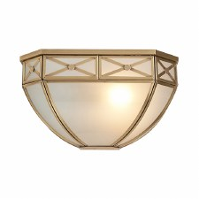 Interiors 1900 Bannermann Wall Light Antique Brass