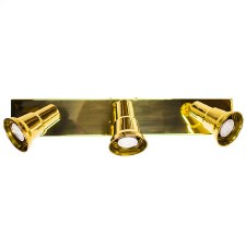 Bar Plate with 3 Spot Lights, Polished Brass