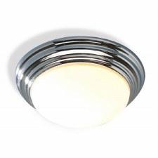 Large Barclay Flush Bathroom Ceiling Light Polished Chrome