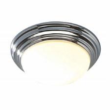 Small Barclay Flush Bathroom Ceiling Light Polished Chrome