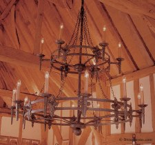 Baronial 18 Light 2 Tier Chandelier Aged Iron