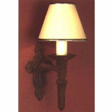 Baronial Wall Light Aged Iron