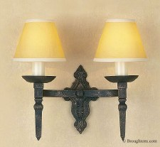 Baronial Double Wall Light Black Gold