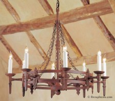 Baronial 8 Light Chandelier Aged Iron