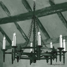 Baronial 8 Light Chandelier Matt Black