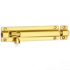 Croft Square Section Straight Bolt 100mm x 28mm Polished Brass Unlacq