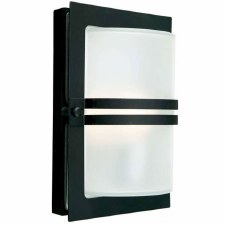 Elstead Basel Flush Outdoor Wall Light Black