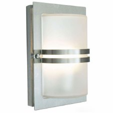 Elstead Basel Flush Outdoor Wall Light Stainless Steel