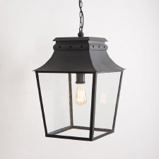 Bath Hanging Lantern Large Black