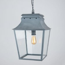Bath Hanging Lantern Large Zinc