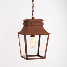 Bath Hanging Lantern Small Corten Steel