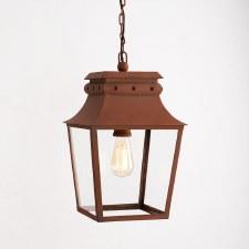 Bath Hanging Lantern Small Corten Steel