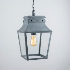 Bath Hanging Lantern Small Zinc