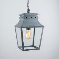 Bath Hanging Lantern Small Zinc