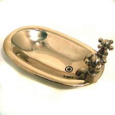 Freestanding Soap Dish Polished Brass