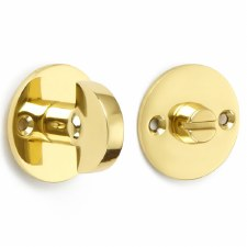 Croft Bathroom Thumb Turn & Release Polished Brass Unlacquered