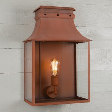 Bath Wall Lantern Large Corten Steel