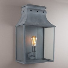 Bath Wall Lantern Large Zinc