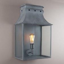 Bath Wall Lantern Large Zinc