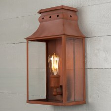 Bath Wall Lantern Medium Corten Steel