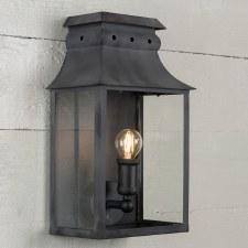 Bath Wall Lantern Small Black