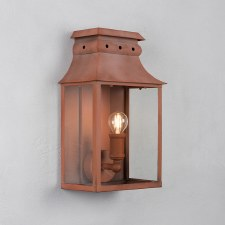 Bath Wall Lantern Small Corten Steel