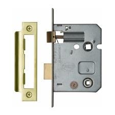 "Heritage Bathroom Lock YKBL3 Polished Brass 3"""
