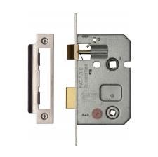 """Heritage Bathroom Lock YKBL2 Satin Chrome 2.5"""""""