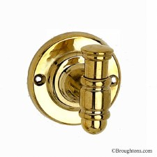 Florence Robe Hook Polished Brass