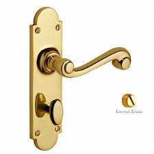 Victorian Constable 610 Door Handles Polished Brass Unlacquered