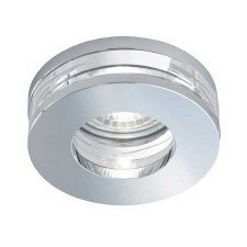 Bathroom Downlights Chrome and Glass Circular