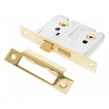"From The Anvil Bathroom Mortice Lock 3"" Electro Brass"