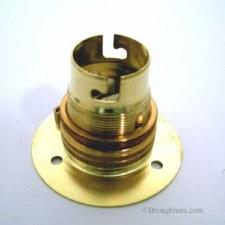Batten Lampholder BC Brass