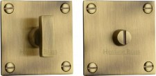Heritage BAU1555 Bathroom Thumb Turn & Release Antique Brass Lacq