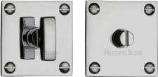 Heritage BAU1555 Bathroom Thumb Turn & Release Polished Chrome