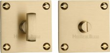 Heritage BAU1555 Bathroom Thumb Turn & Release Satin Brass Lacquered