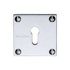 Heritage BAU1556 Square Escutcheon Polished Chrome