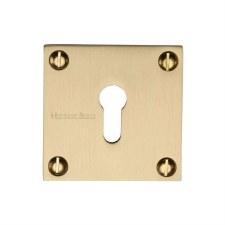 Heritage BAU1556 Square Escutcheon Satin Brass Lacquered