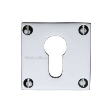 Heritage BAU1558 Square Euro Escutcheon Polished Chrome