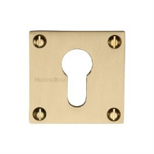 Heritage BAU1558 Square Euro Escutcheon Satin Brass Lacquered