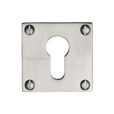 Heritage BAU1558 Square Euro Escutcheon Satin Nickel