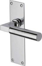 Heritage Bauhaus Latch Door Handles BAU7310 Polished Chrome