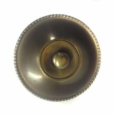 Aston Beaded Door Bell Push Antique Brass Unlacquered 54mm