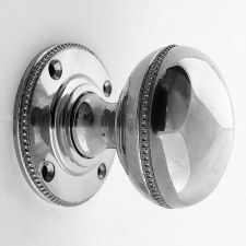 Aston Beaded Bun Door Knobs Polished Chrome 44mm