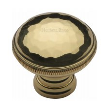 Heritage Beaten Cabinet Knob C4545 Polished Brass