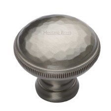 Heritage Beaten Cabinet Knob C4545 Satin Nickel