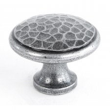 From The Anvil Beaten Cupboard Knob Pewter Large